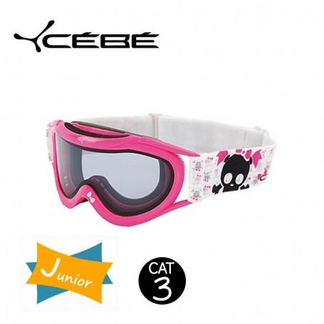 Masque De Ski Cebe Super Marwin JUNIOR Pink Skull Iridium Cat. 3