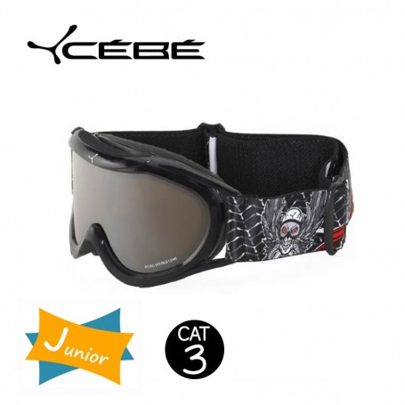 Masque De Ski Cebe Super Marwin JUNIOR Black Skull Iridium Cat. 3