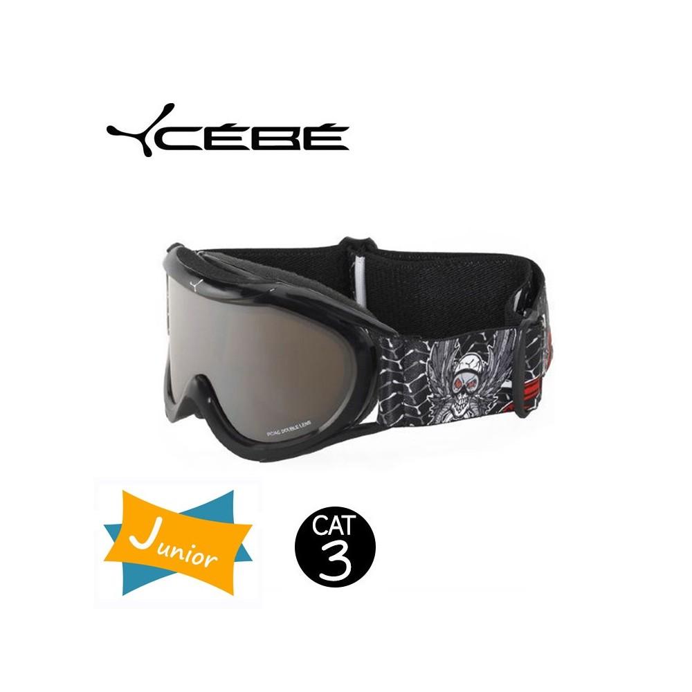 Masque De Ski Cebe Super Marwin JUNIOR Black Skull Iridium Cat. 3