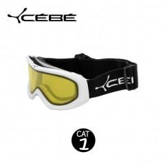 Masque de Ski Cébé OTG Series Blanc Jaune Unisexe Cat.1