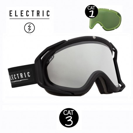 Masque de ski ELECTRIC RIG Noir Cat.1/3