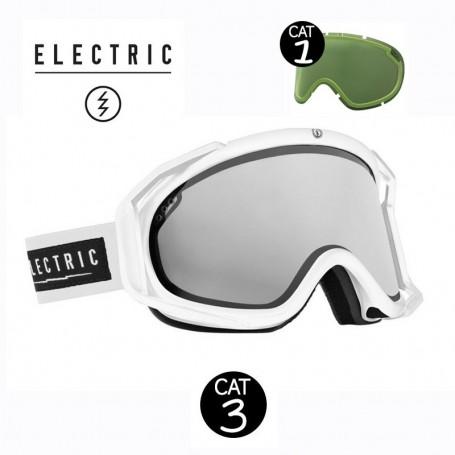 Masque de ski ELECTRIC RIG Blanc Cat.1/3