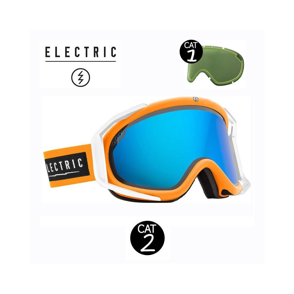 Masque de ski ELECTRIC RIG Orange Cat.1/2