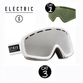 Masque de ski ELECTRIC EGB2 Blanc Cat.1/3