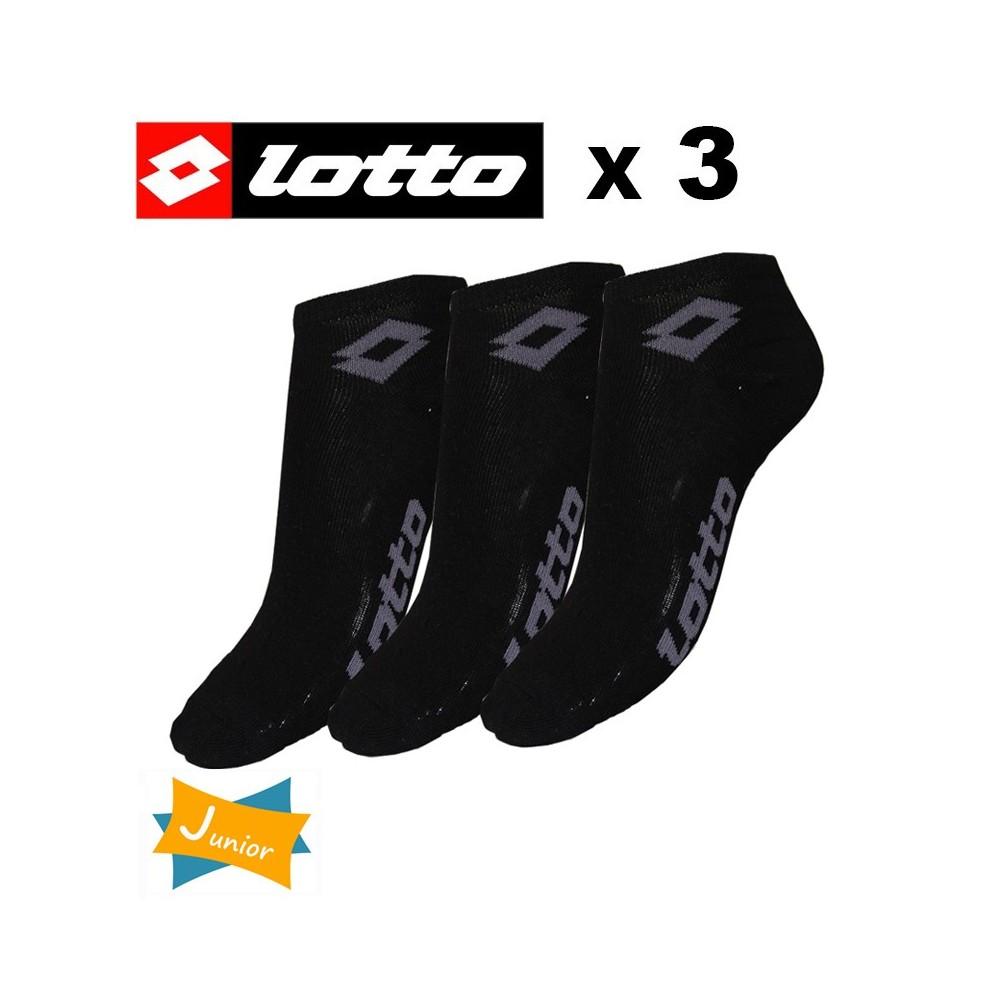 Socquette LOTTO Noire Junior (X 3 paires)
