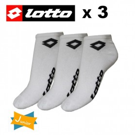 Socquette LOTTO Blanche Junior (x 3 paires)