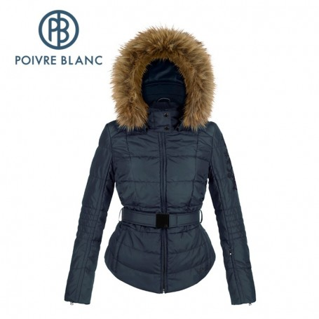 Manteau ski femme capuche fourrure