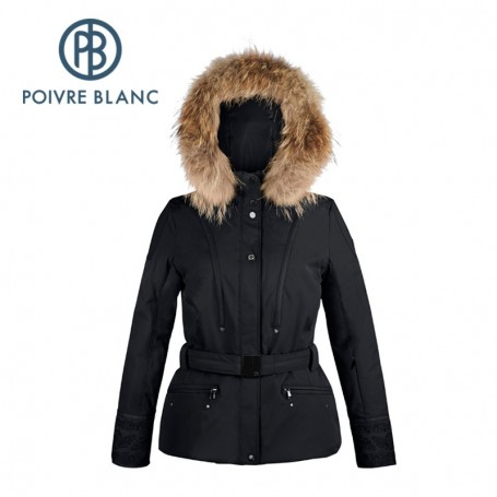 Veste de ski POIVRE BLANC WO/A Ski Jacket Noire Femme