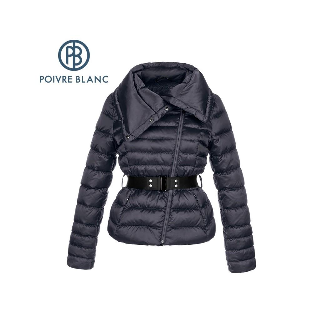 Doudoune POIVRE BLANC Perfecto Down Jacket Bleu Femme