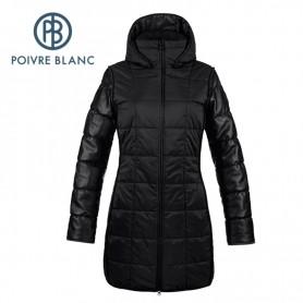 Manteau POIVRE BLANC Padded Coat Noir Femme