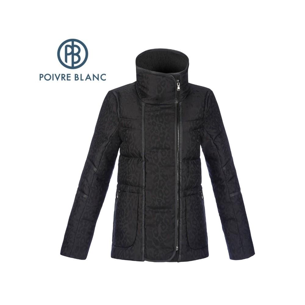 Manteau POIVRE BLANC Down Jacket Noir Femme