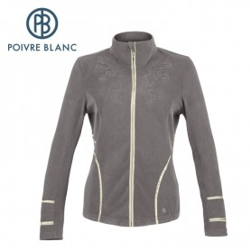 Polaire POIVRE BLANC Jacket Grise Femme