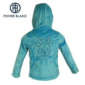 Polaire POIVRE BLANC Long Pile Fleece Jkt Bleu BB Fille