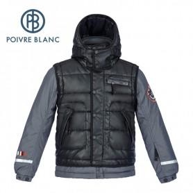 Blouson de ski POIVRE BLANC JRBY Ski Jacket Noire / Grise Garçon