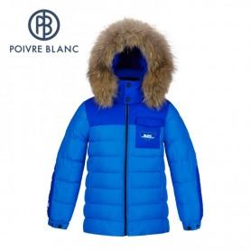 Doudoune POIVRE BLANC JRBY/A Down Jacket Bleu Garçon