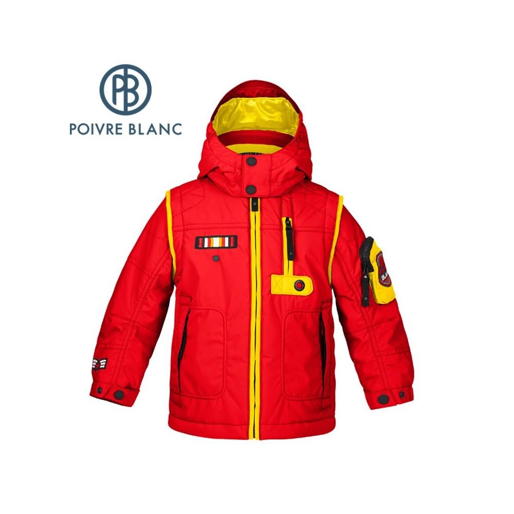 Veste de ski POIVRE BLANC BBBY Ski Jacket Rouge BB Garçon