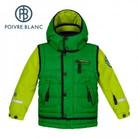 Blouson de ski POIVRE BLANC BBBY Ski Jacket Verte BB Garçon
