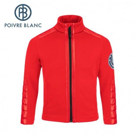 Veste stretch POIVRE BLANC BBBY Fleece Jacket Rouge BB Garçon
