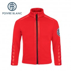 Veste stretch POIVRE BLANC BBBY Fleece Jacket Rouge BB Garçon