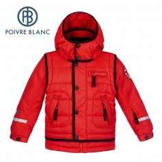 Blouson de ski POIVRE BLANC W15-0901 BBBY Rouge BB Garçon
