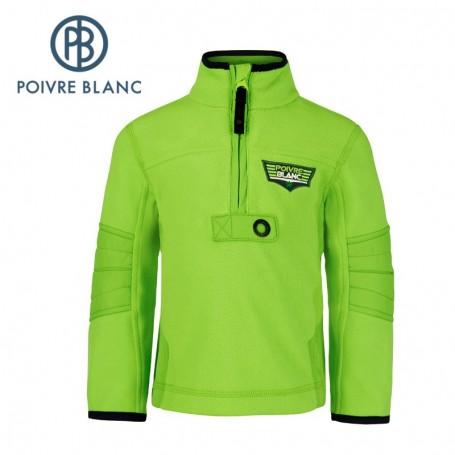 Polaire POIVRE BLANC BBBY Fleece Sweater Vert BB Garçon