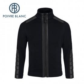 Veste stretch POIVRE BLANC JRBY Fleece Jacket Noir Garçon