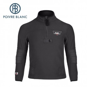 Polaire POIVRE BLANC JRBY Fleece Sweater Noir Garçon