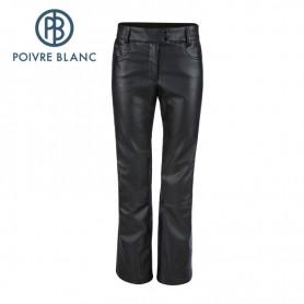 Pantalon de ski POIVRE BLANC WO/F Pant Noir Cuir Femmes