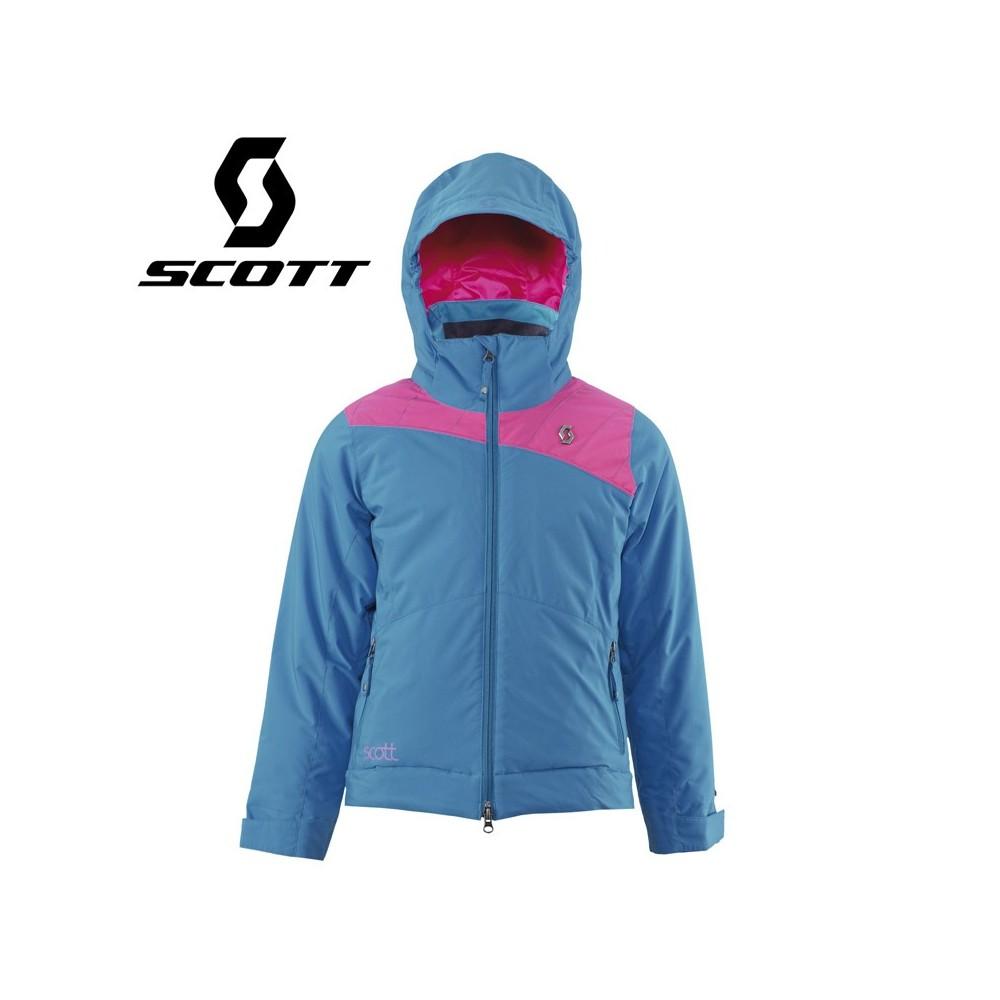 Veste de ski SCOTT G's Jacket Pro Stretch Bleu / Rose Fille