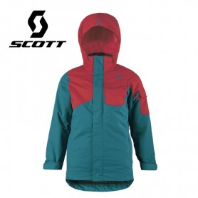 Veste de ski SCOTT B's Jacket Essential Vert / Rouge Garçon