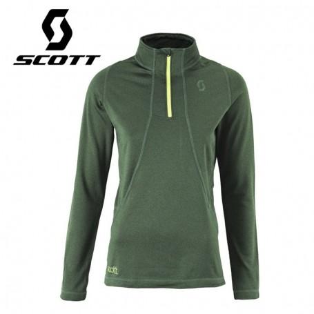 Pullover 1/2 zip SCOTT Two2 Vert Forêt Femmes