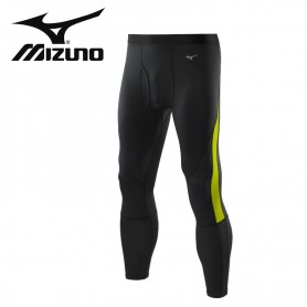 Collant long thermique MIZUNO VB G1 Tights Noir/Citron Hommes
