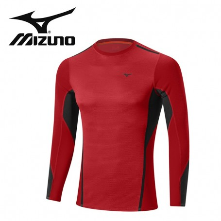 Maillot thermique MIZUNO VB Fusion Crew Rouge Hommes