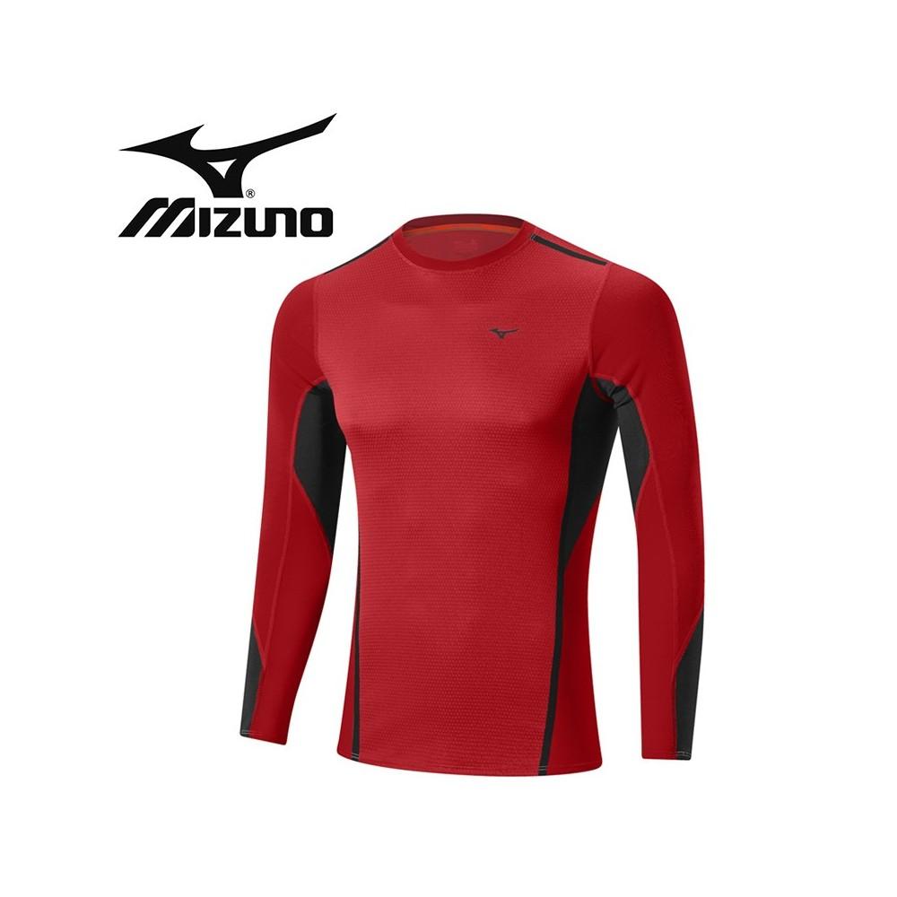 Maillot thermique MIZUNO VB Fusion Crew Rouge Hommes