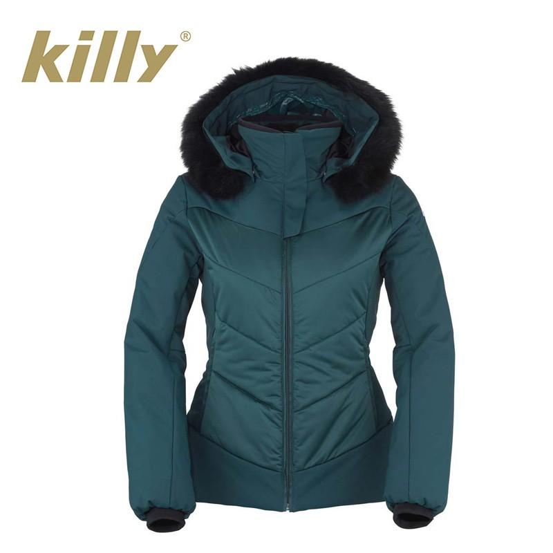 Prix De Tout Lovely Killy Femme A Bleu Veste Ski Sport Fur Canard UqPddwfn