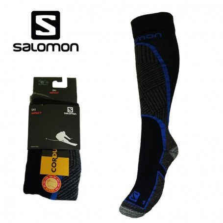 chaussettes de ski salomon impact bleu unisexe sport a tout prix. Black Bedroom Furniture Sets. Home Design Ideas