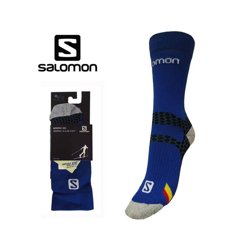 Chaussettes de ski SALOMON Nordic S-lab Exo Bleu Unisexe