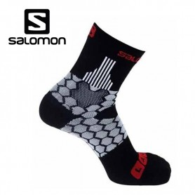 Chaussettes de Trail/Running SALOMON S-Lab Exo Black/Red/White Unisexe