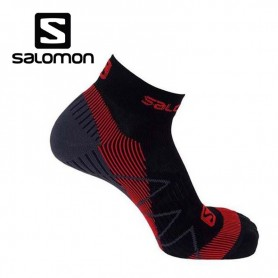 Chaussettes de Trail/Running SALOMON SpeedCross Sense Black/Red Unisexe