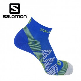 Chaussettes de Trail/Running SALOMON SpeedCross Union Blue/Gecko green Unisexe