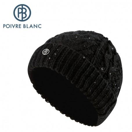 Bonnet de Ski POIVRE BLANC knitted hat JRGLA/A Noir