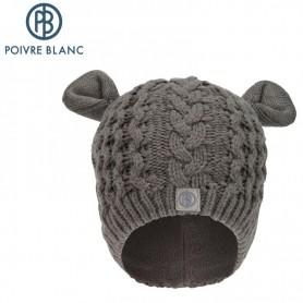 POIVRE BLANC knitted hat with ears Grey