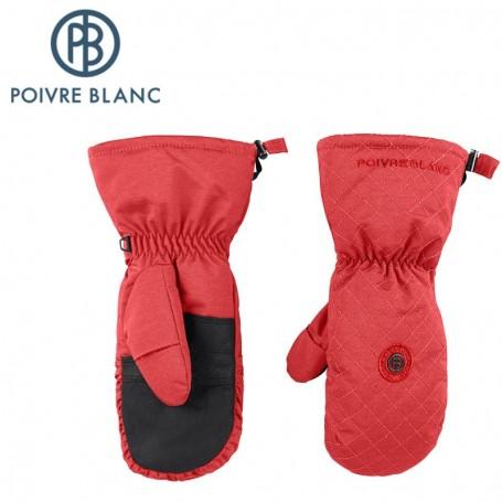 Moufles de ski POIVRE BLANC Rouge Femme