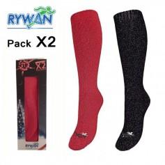Chaussettes de ski (Pack x2) RYWAN Glam's Femme