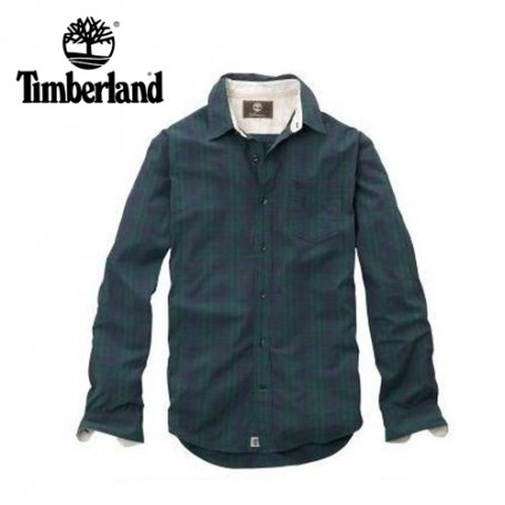 Chemise TIMBERLAND Plaid Claremont Vert Homme