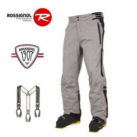 Pantalon de ski ROSSIGNOL 1907 Virage Gris chiné Homme