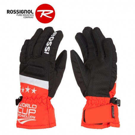 gants de ski rossignol wc race impr noir orange junior sport a tout prix. Black Bedroom Furniture Sets. Home Design Ideas