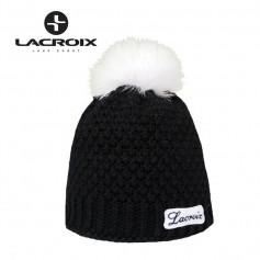 Bonnet de ski LACROIX Fourrure Noir Unisexe