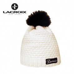 Bonnet de ski LACROIX Fourrure Blanc Unisexe