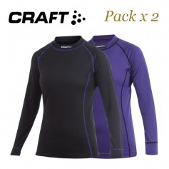 Mailllot thermique CRAFT Active Multi 2pack Noir / Violet Femme